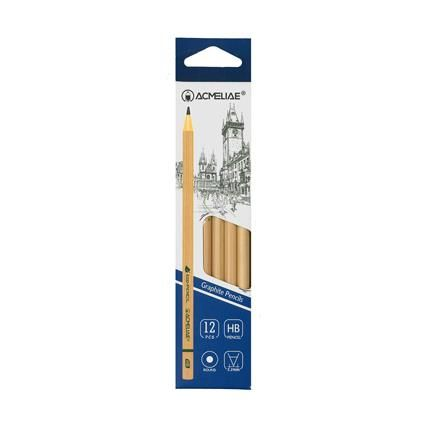 PENCIL HB ROUND NATURAL 12PC