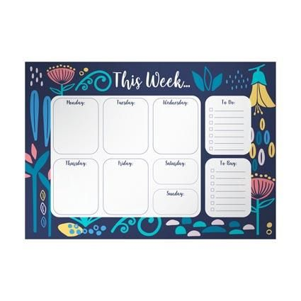 MAGNETIC WEEKLY PLANNER PAD A4 52PGS
