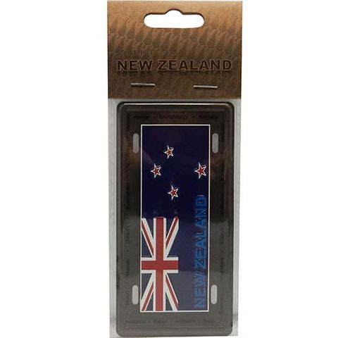 LICENCE PLATE SMALL - NZ FLAG MAGNET