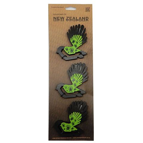 WOODEN FANTAILS - SET OF 3 SMALL