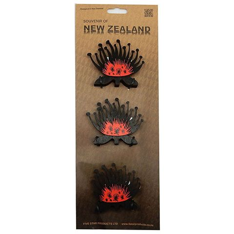 WOODEN POHUTUKAWA - SET OF 3 SMALL