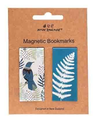 MAGNETIC BOOKMARK NZ TUI & FERN 2 PC