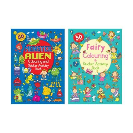 COLOURING & STICKER BOOK FAIRY/ALIEN A4