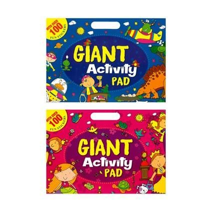GIANT ACTIVITY STICKER PAD A3 25PG
