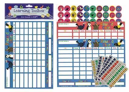 REWARD CHART KIWI BIRDS A4