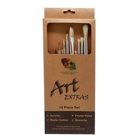 ART EXTRA 12PCS BLK HDLE ASSTD BRUSHSET