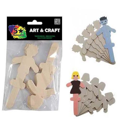 POPSICLE STICKS PEOPLE 12PC