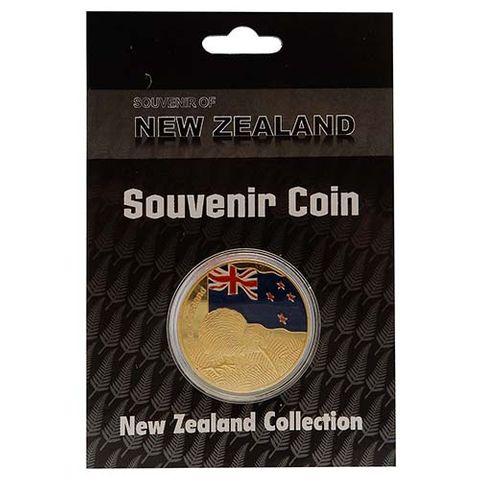 SOUVENIR COIN NZ FLAG
