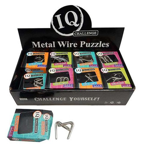 METAL WIRE PUZZLE DISPLAY 24
