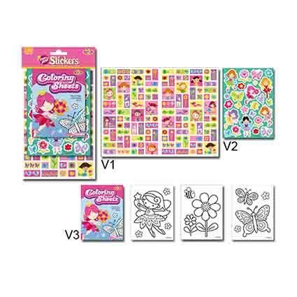 STICKER & COLOURING ALBUM FAIRIES