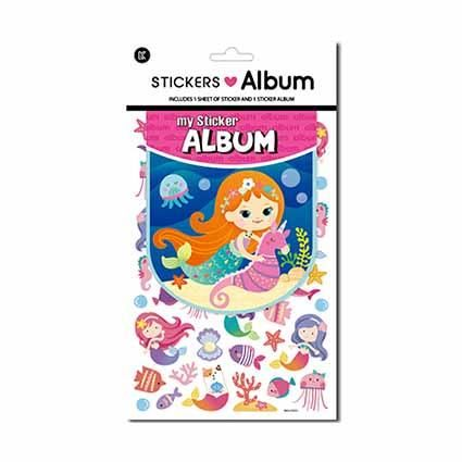 STICKER ALBUM MERMAIDS W STICKERS