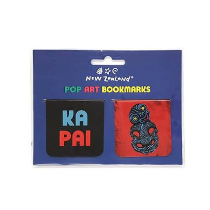 MAGNETIC BOOKMARK NZ POP ART TIKI 2 PC
