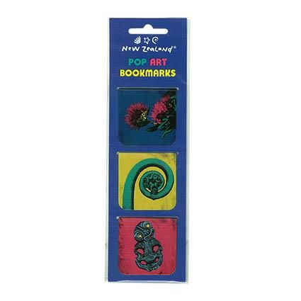 MAGNETIC BOOKMARK NZ POP ART 3 PC