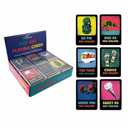 PLAYING CARDS NZ POP ART STYLES DISPLAY 12
