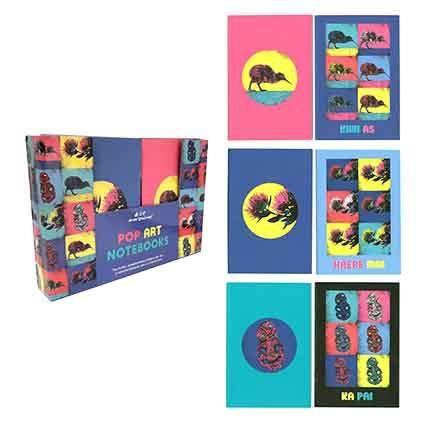 NOTEBOOK NZ POP ART A5 2 PC SETS