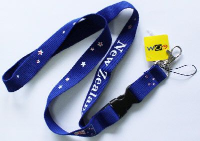 LANYARD NZ FLAG BLUE 20MM