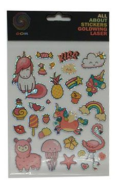 STICKER LASER UNICORNS