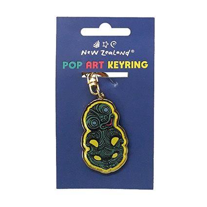 KEYRING NZ POP ART TIKI 5CM