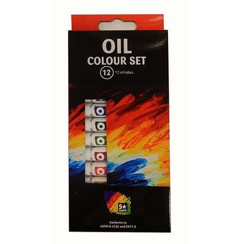 OIL COLOUR PAINTS - SET OF 12X12 ML