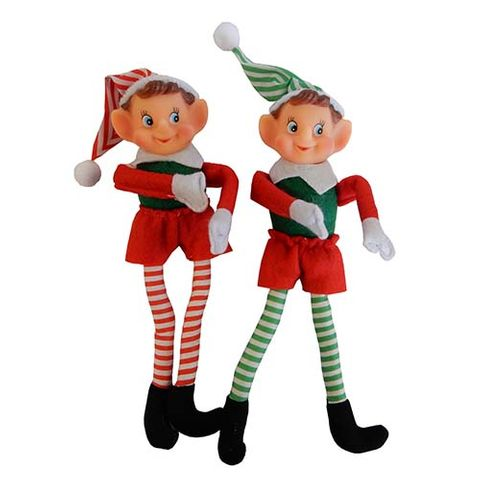 XMAS ELF STRIPES 28CM 2 ASSTD