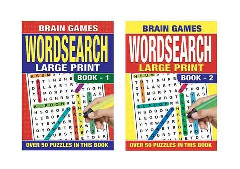WORD SEARCH LARGE PRINT 64 PG