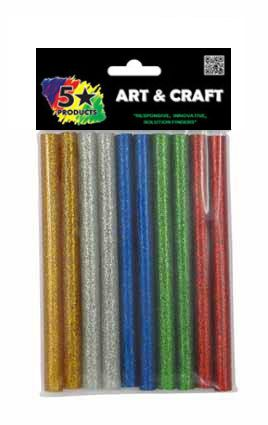 CRAFT GLUE GUN STICKS GLITTER 10PC