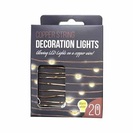 COPPER STRING LIGHTS 20 LEDS