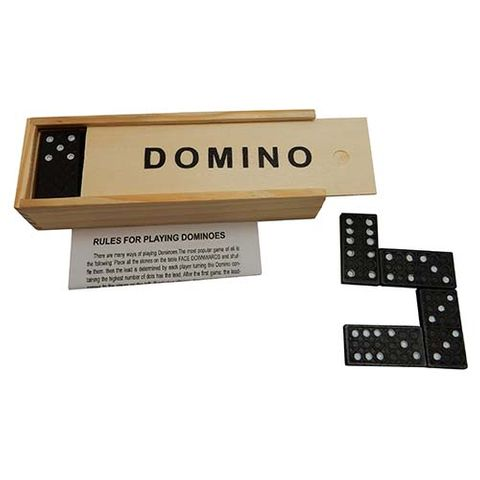 DOMINOES SET 28 PCE IN WOODEN BOX