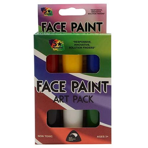 FACE PAINT STANDARD COLOURS 6X15 ML