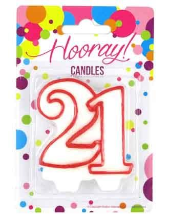 CANDLE NUMERAL 21^