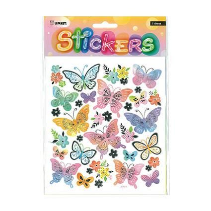 UPIKIT STICKER PASTEL BUTTERFLIES