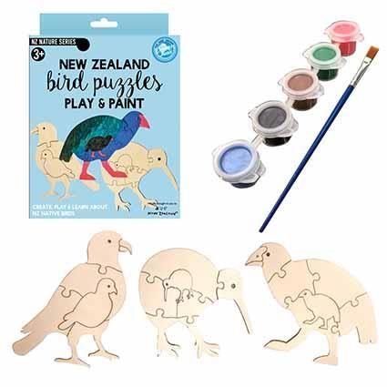 PAINT & PUZZLE NZ BIRD SET