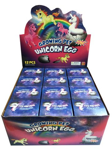 GROWING UNICORN IN EGG DISPLAY OF 12