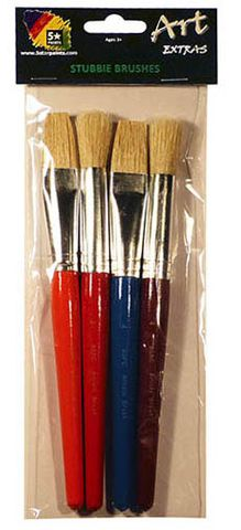 ART EXTRA 4 PC STUBBIE BRUSH SET