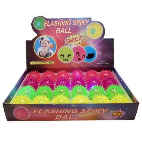 SPIKEY LIGHT UP BALL ASSTD