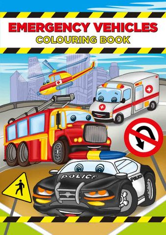 COLOURING BOOK EMERGENCY VEHICLES