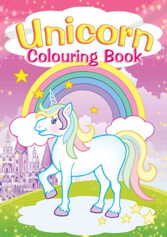 COLOURING BOOK UNICORNS 2