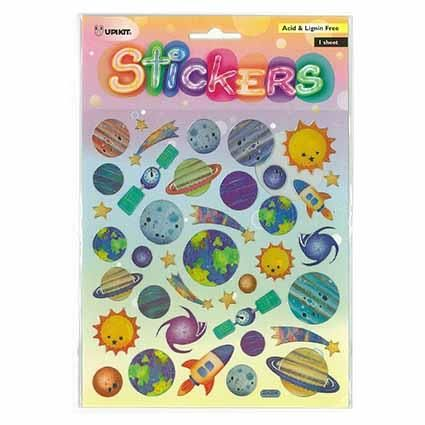 UPIKIT STICKER SILVER PLANETS
