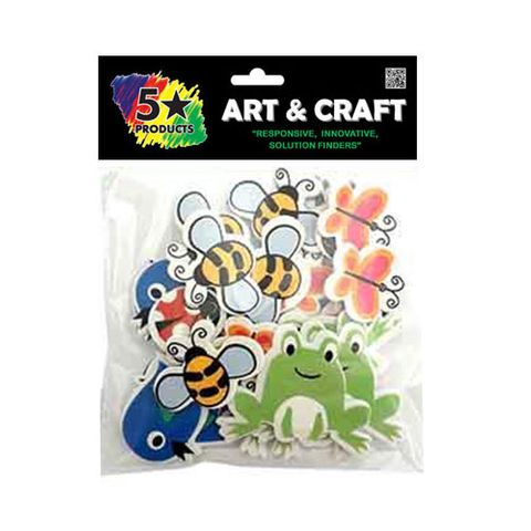 CRAFT SOFT STICKERS INSECTS 30PC
