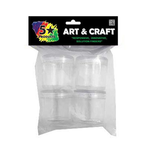 CRAFT PLASTIC CONTAINERS 4PC