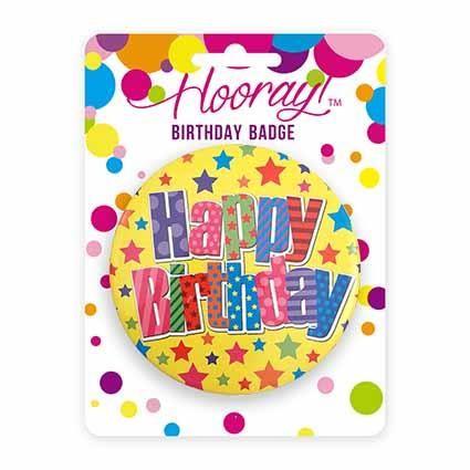 BADGE JUMBO HAPPY BIRTHDAY 10CM