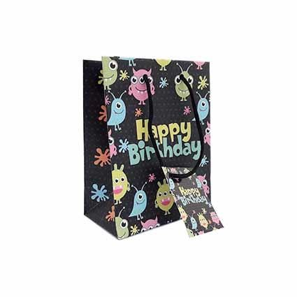 GIFT BAG SMALL HAPPY BDAY ALIENS
