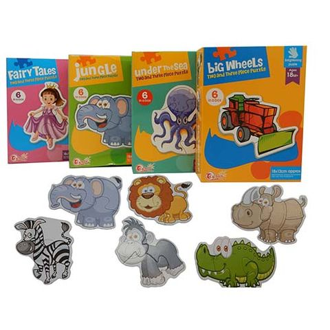 MATCH PUZZLES SET OF 4  -6 ASSORTED DESIGNS