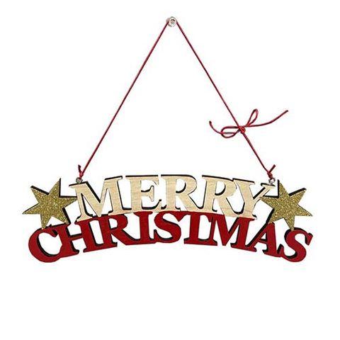MERRY CHRISTMAS WOODEN HANGER