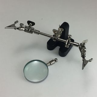 Base with Adj Arms & Magnifier- 3rd Hand
