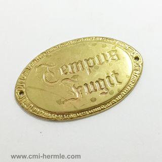Tempus Fugit Oval Decorative Brass Plate