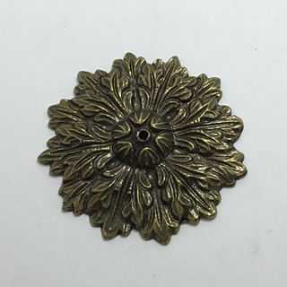 Bronze Brass Rosette 32mm Diameter