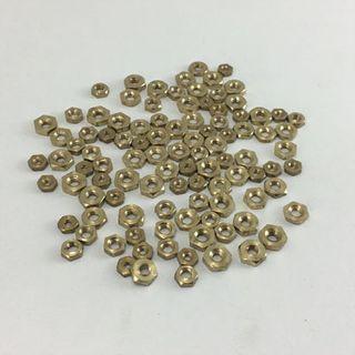 100  asst Hex Nuts Brass