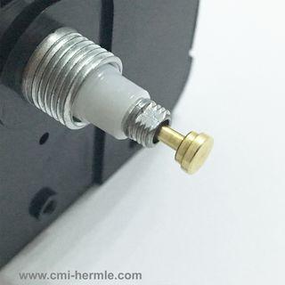 Quartz 4mm Gold Button Centres