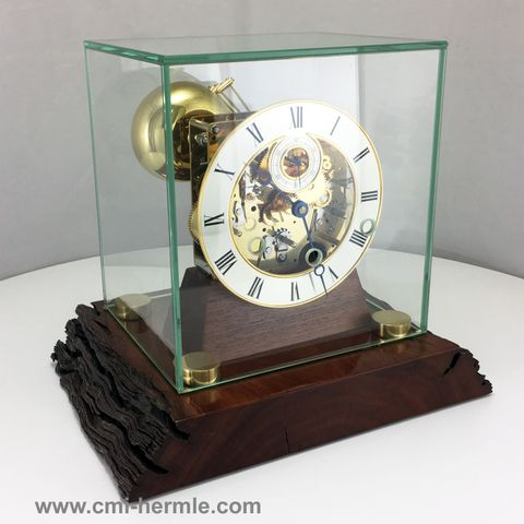 HB & Sons Table Clock in Cherry Hardwood